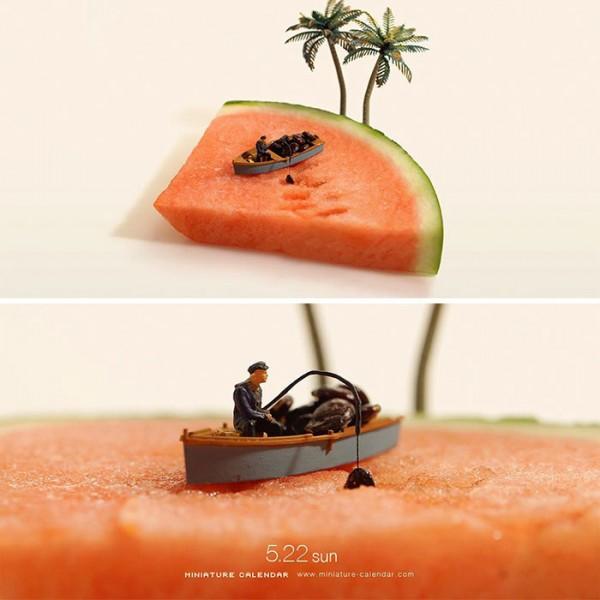 Fun miniature dioramas by Tatsuya Tanaka