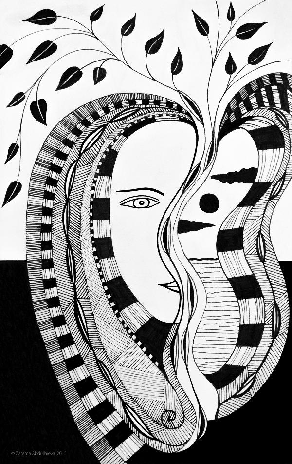 Zarema Abdullaieva, illustration