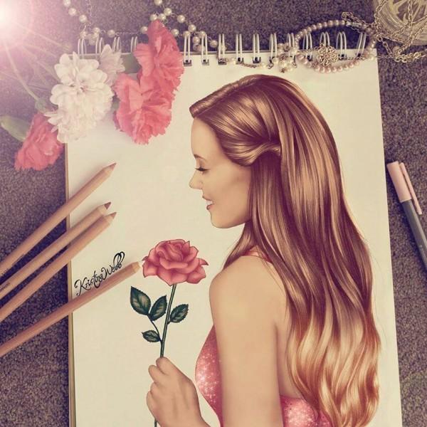 Beautiful and creative illustration by Kristina Webb