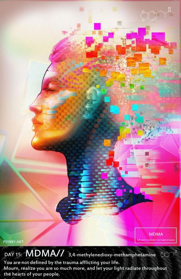 Pixel-Pusha's 20 Day Binge, digital art by Brian Pollett