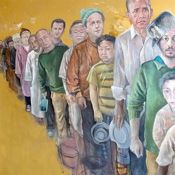 Vulnerability Series, paintings by Abdalla Al Omari