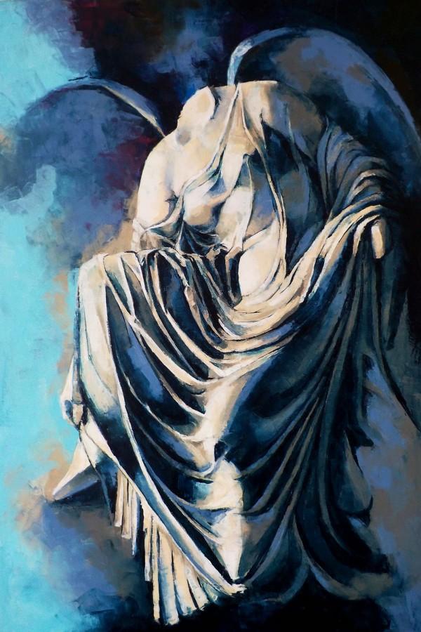 female, colors, paintings, fine arts, Fotini Polychronou