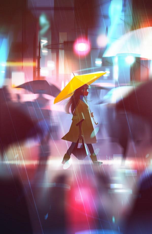 Between Dreams & Reality, digital art by Jenny Yu