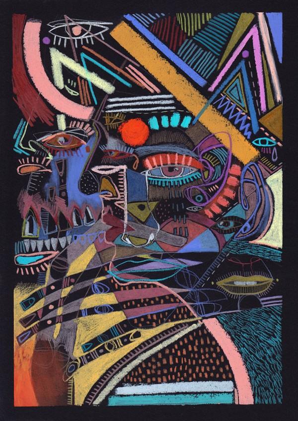 Black, drawing series by Marina González Eme