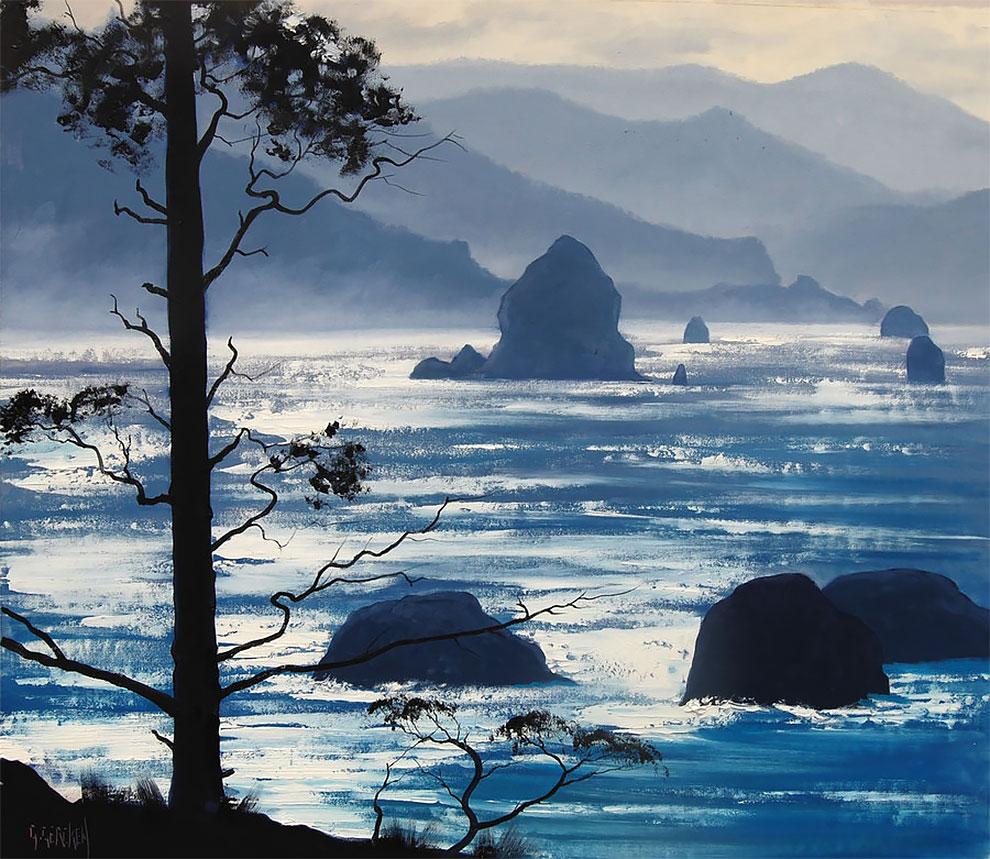 Landscape oil paintings by Graham Gercken