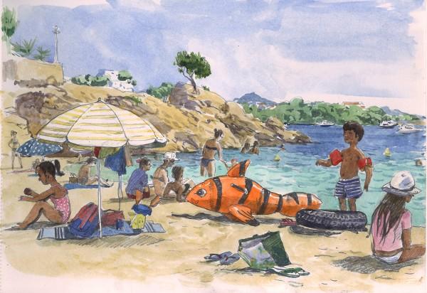 Travel book. Naples. Mallorca. - drawing by Diana Kuksa (Nesypova)