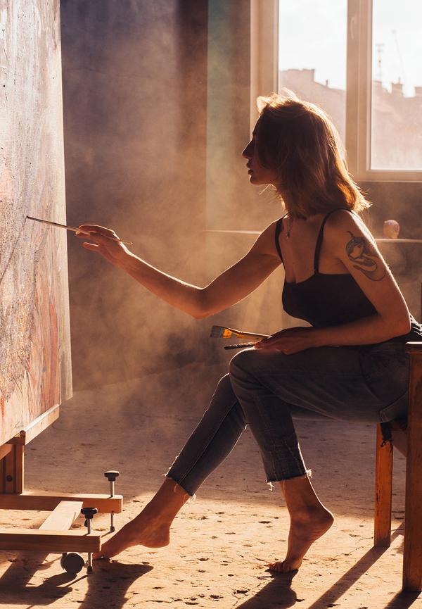 Painter, photography by Marta Sirko