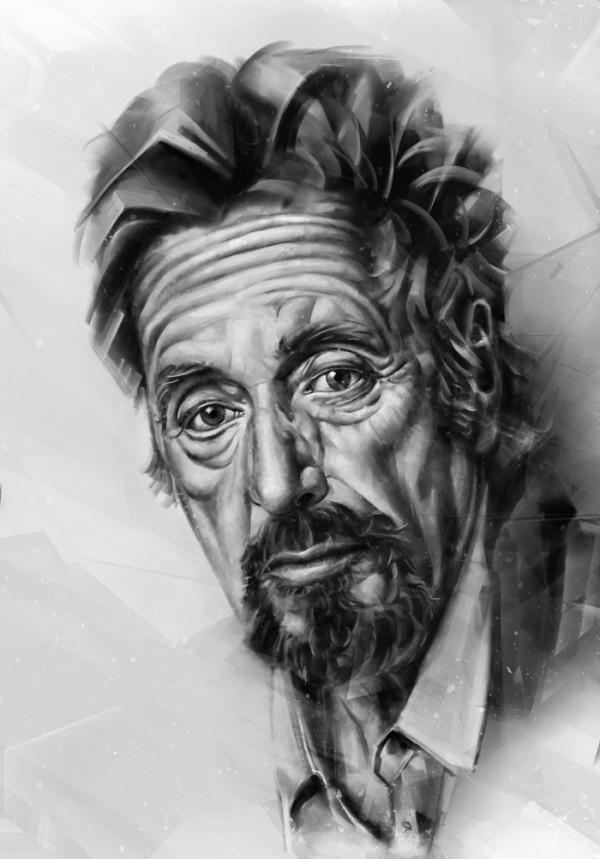 Portraits of actors, digital art by Denis Gonchar