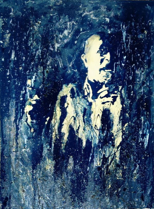 Blue series, painting by Anja-Raniah Sbeih
