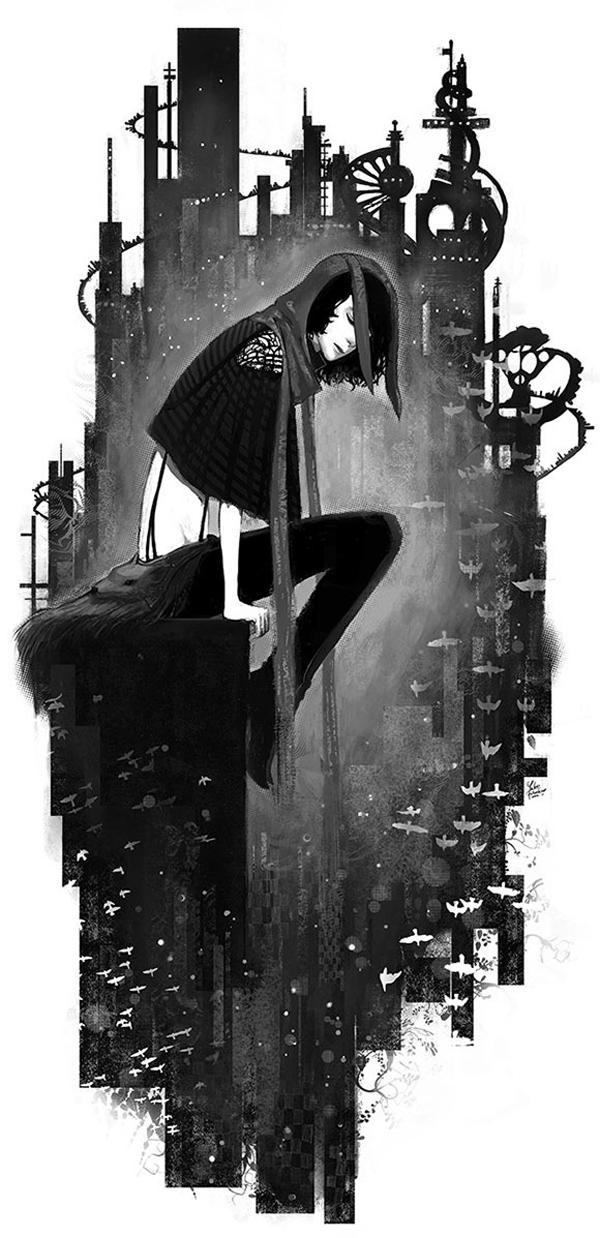 Digital painting by Yuko Fukushima