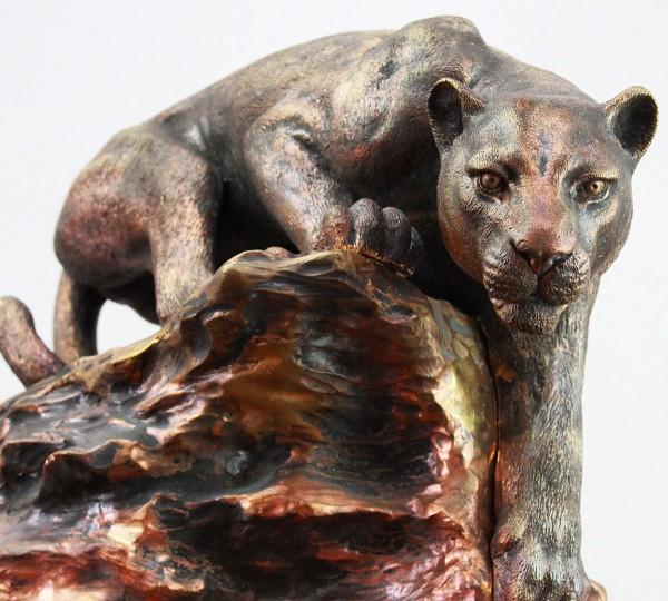 Ambush - bronze, sculpture by Igor Gosling