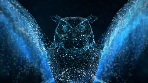 Blue Owl, digital art by Chris Bjerre