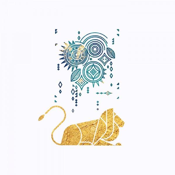 Lion, illustration by Artsy Kiddo