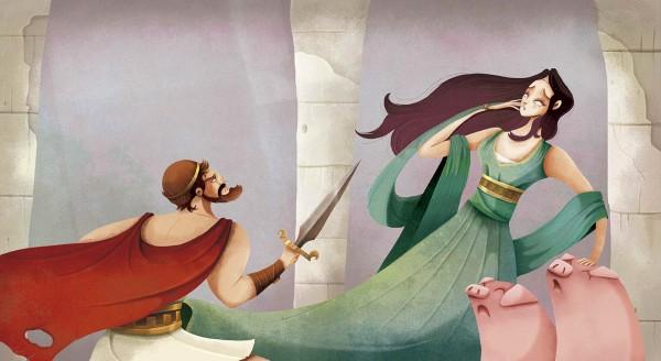 The Odyssey, illustration by Alex Herrerías