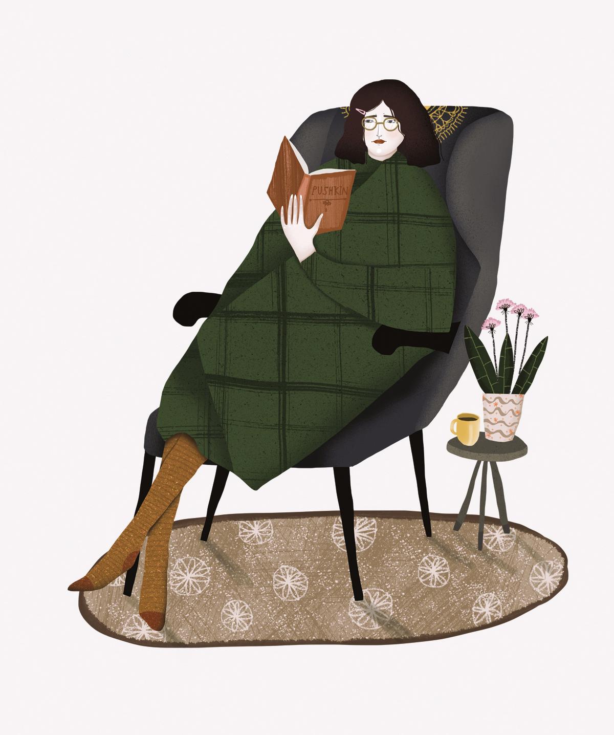 Autumn survival, illustration by Anna Rudak