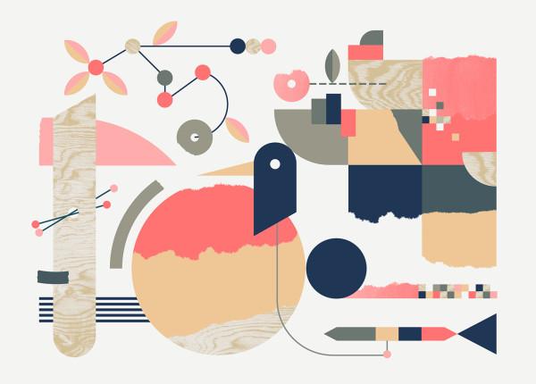 "Valentina Brković, illustration series ""Music by Nature"""