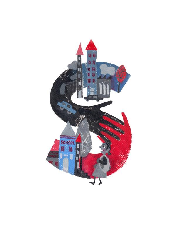 Educating Letters, illustration by Shraddha Mandale