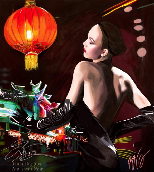 Film Noir Paintings by Gina Higgins