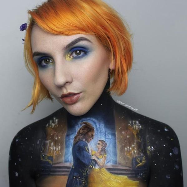 Intricate body paintings by Georgina Ryland