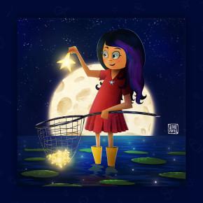 Purple Hair Girl, illustration by Yavuz Ünlü