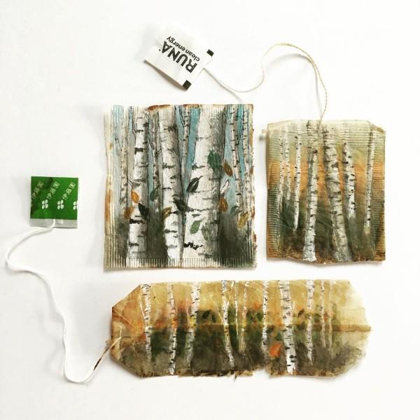 Tea Bag Art by Ruby Silvious