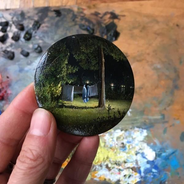 Dina Brodsky, miniature landscape paintings
