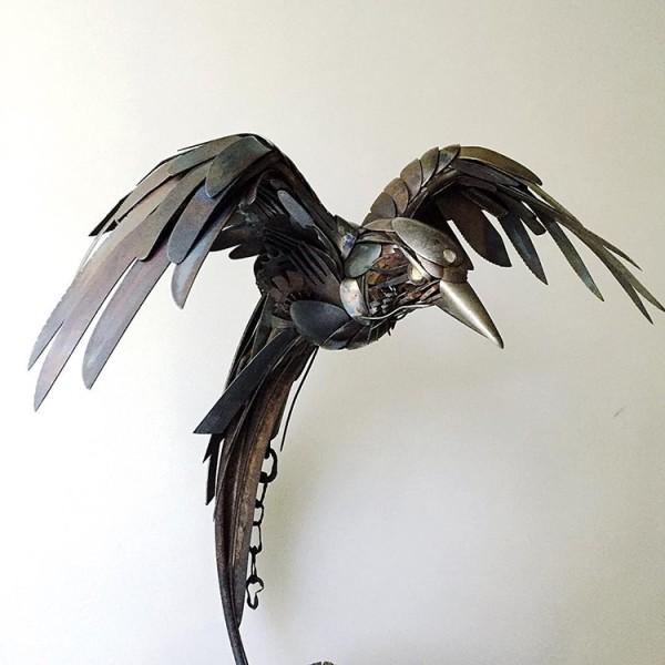 Striking silverware animal assemblages by Matt Wilson