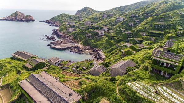 Aerial photography travel: Houtouwan – abandoned fishing village