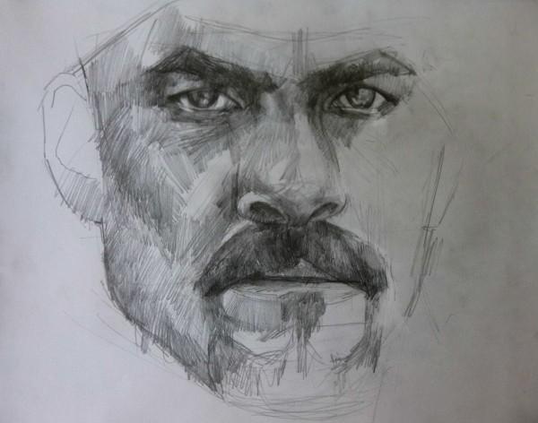 Pencil portraits on paper by Savvas Kozi