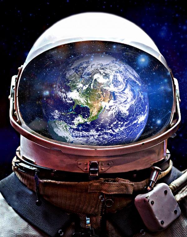 Astronaut series by Evgenia Kvasova
