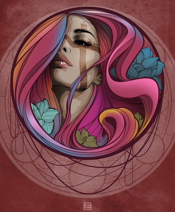 Bubble, illustration by Willy Gómez