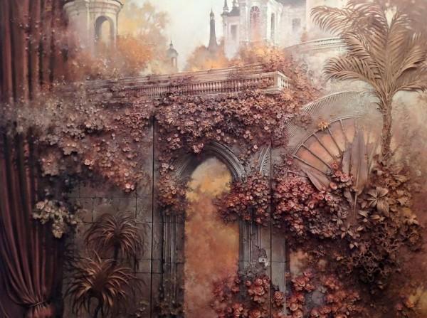 Goga Tandashvili uses ancient technique to turn walls into art