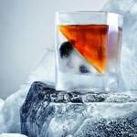 Whiskey on iceberg. Creative advertising photography by Ivan Zhukevych