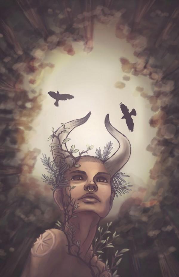 Zodiac illustrations by Emilee Petersmark