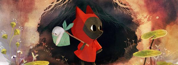 Le Petit Loup Rouge, illustration by Amélie Fléchais