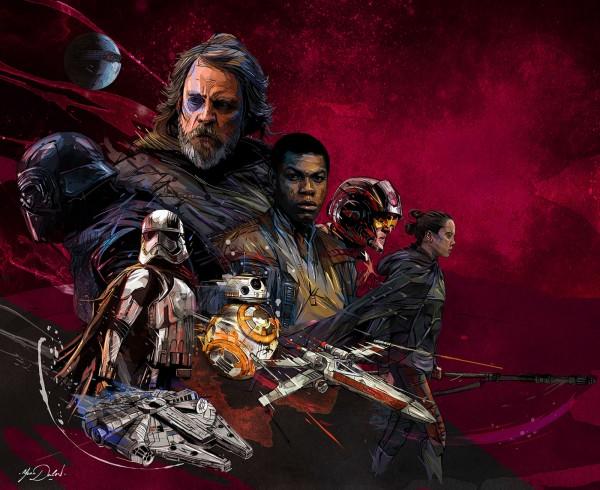STAR WARS - The Last Jedi, illustration by Yann Dalon