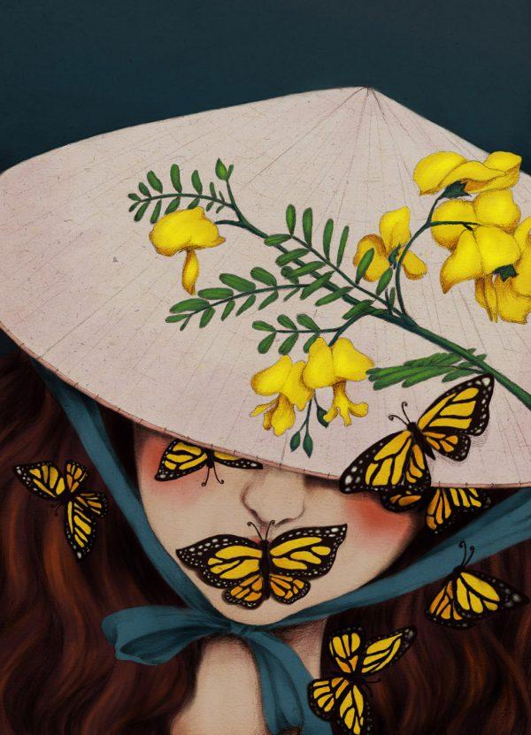 Flowers, illustration by Đốm Đốm