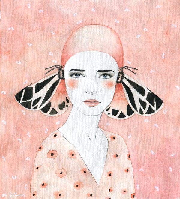 Butterfly girls, illustration by Sofia Bonati