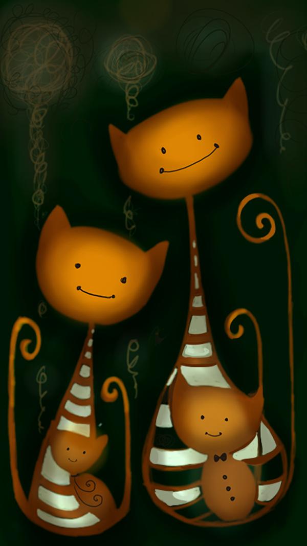 Cat, illustration by Thomai Zografou