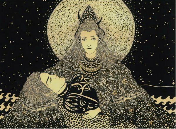 Patterned illustrations by Daria Hlazatova