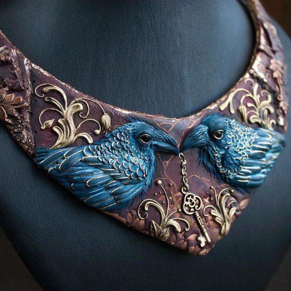 Surreal jewelry handmade by Ellen Rococo