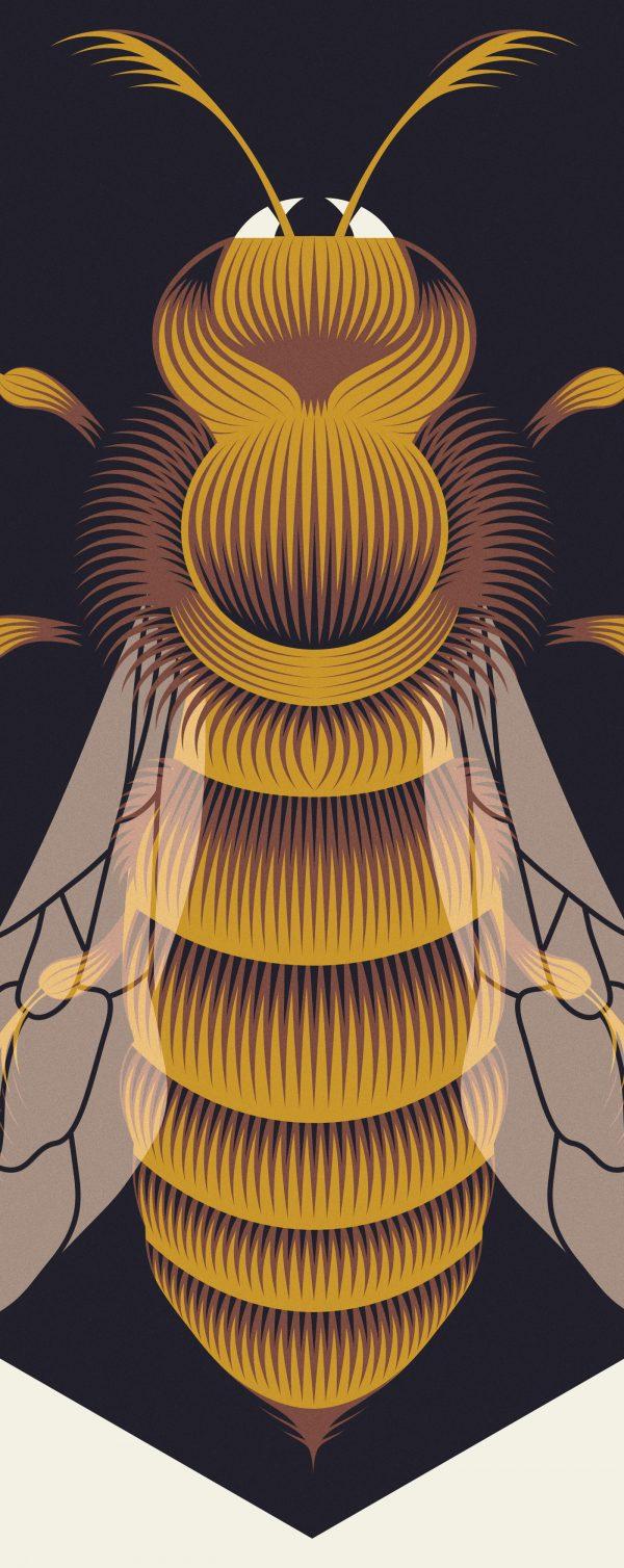 Bees, digital art by Patrick Seymour