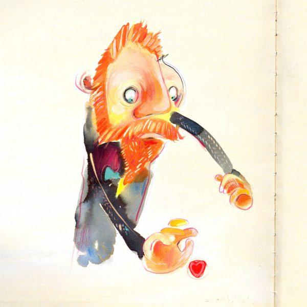 Studies for Vincent, illustration by Stephen Stone
