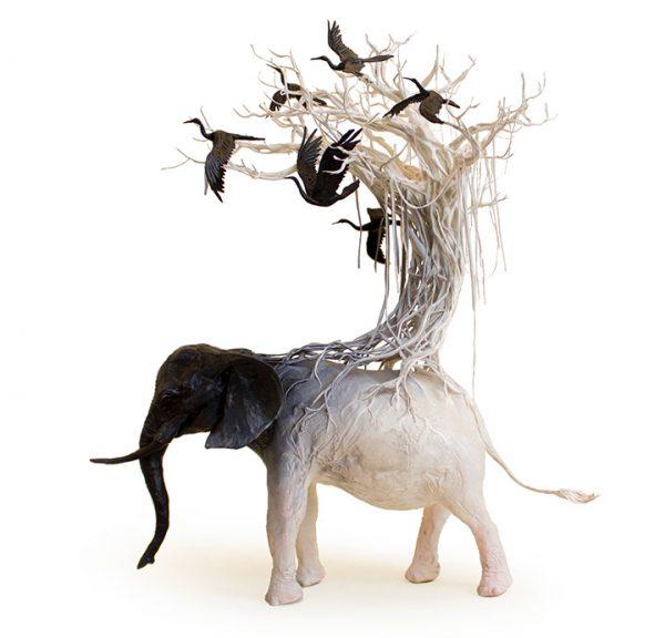 Surrealist sculptures by Ellen Jewett