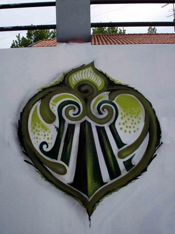 Heart, street art by Costah