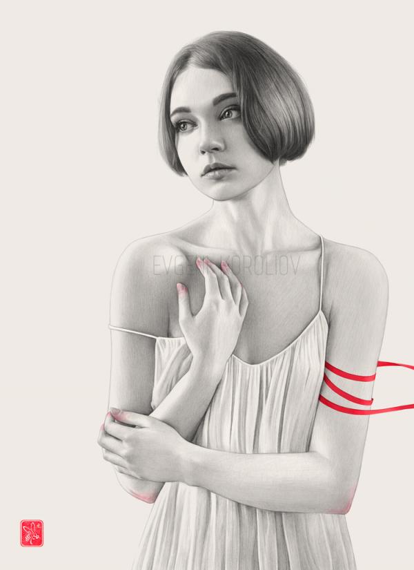 L'éden et après, series of mixed media illustrations by Evgeni Koroliov