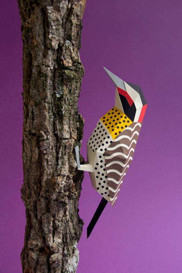 Paper birds, paper art by Estudio Guardabosques