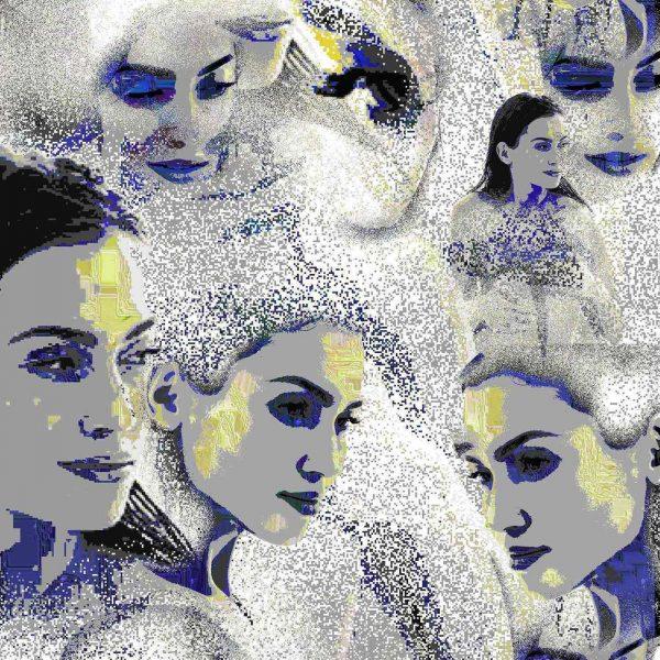 Sweet faces, digital art by Laurent Chani