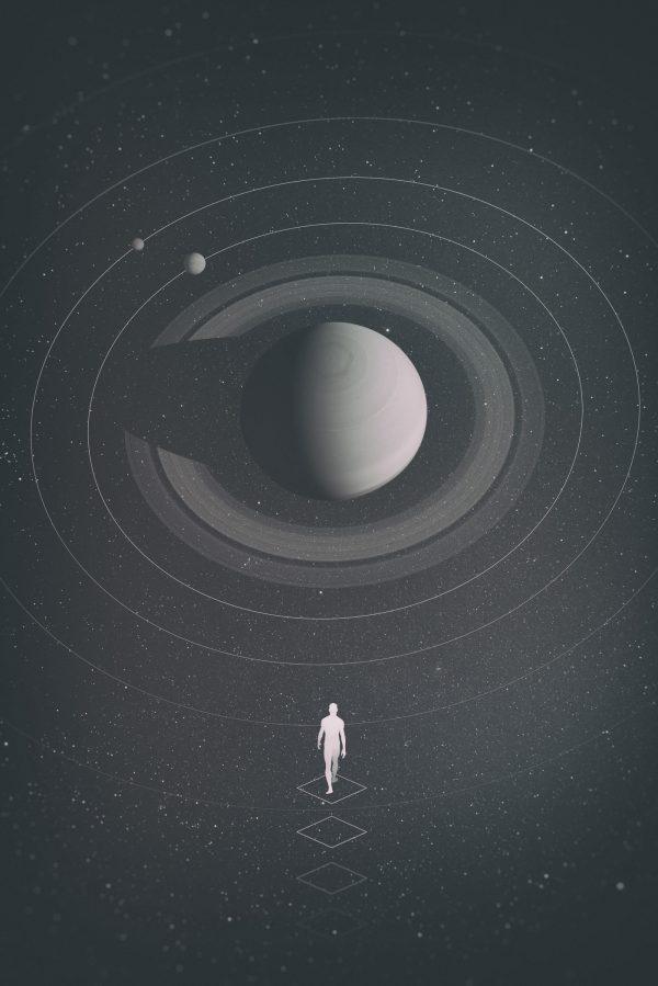 The observatory, digital art by Anxo Vizcaíno