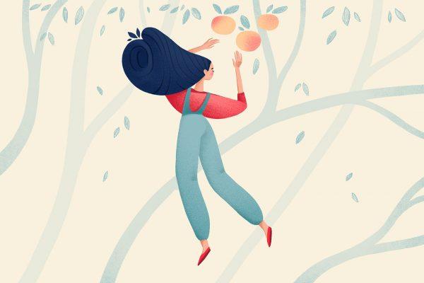 Girls, illustration by Lana Zorina